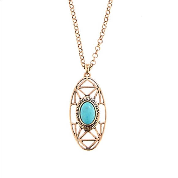 887481085fbb6 NWT • LUCKY BRAND Turquoise Gold Pendant Necklace NWT